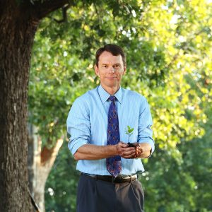 Bill Hardgrave with Sapling in Hands