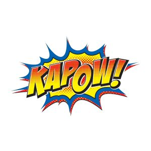 "Comic book rendering of word ""Kapow"""