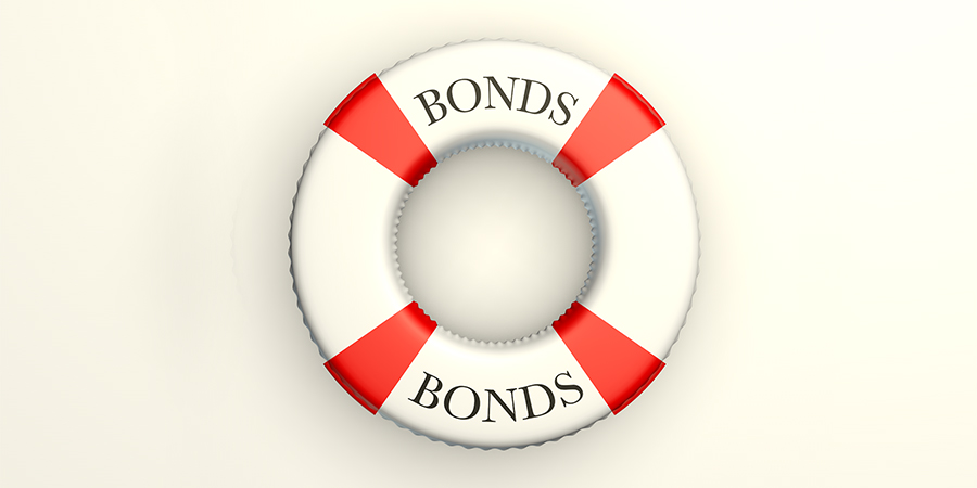 """Illustration of life saver with """"bonds"""" written on it"""