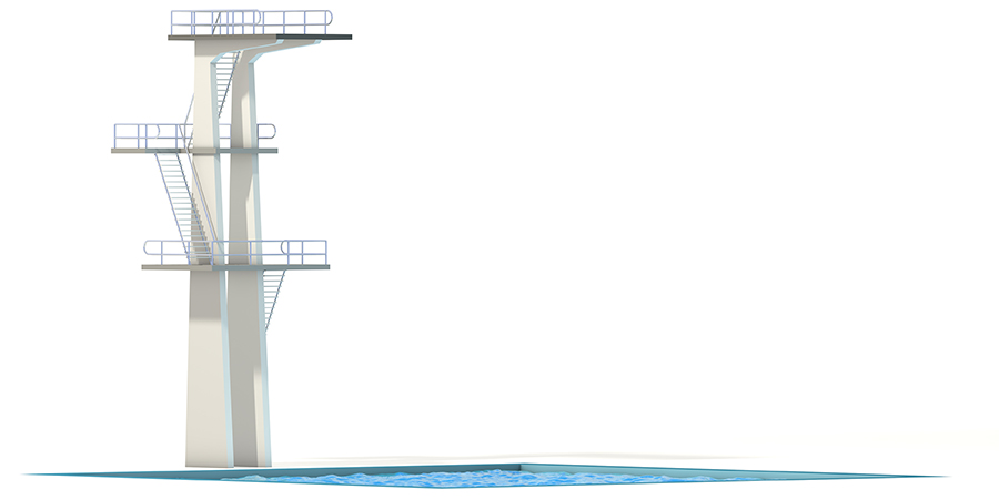 digital illustration of high-dive