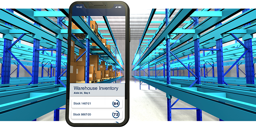 Warehouse inventory on iPhone
