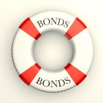 "Illustration of life saver with ""bonds"" written on it"