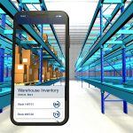 Digital Illustration of warehouse inventory on iPhone